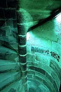 Stairwell Blue Roter Turm